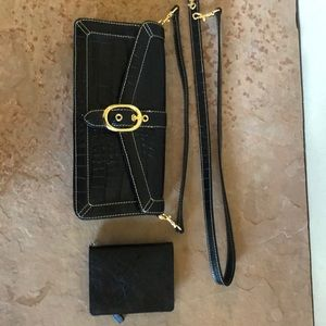 Classy clutch purse with small wallet